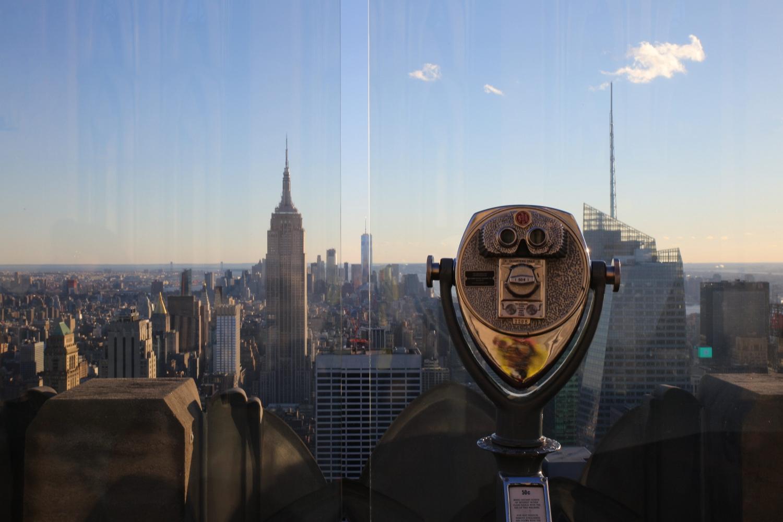view from the rockefeller center, new york