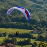 Paraglider from behind